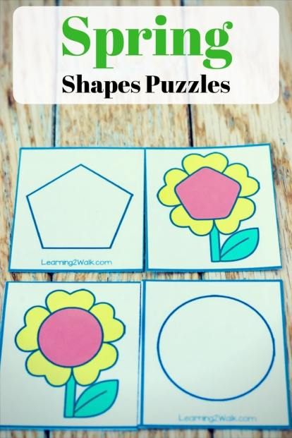 Free Spring Shapes Puzzles