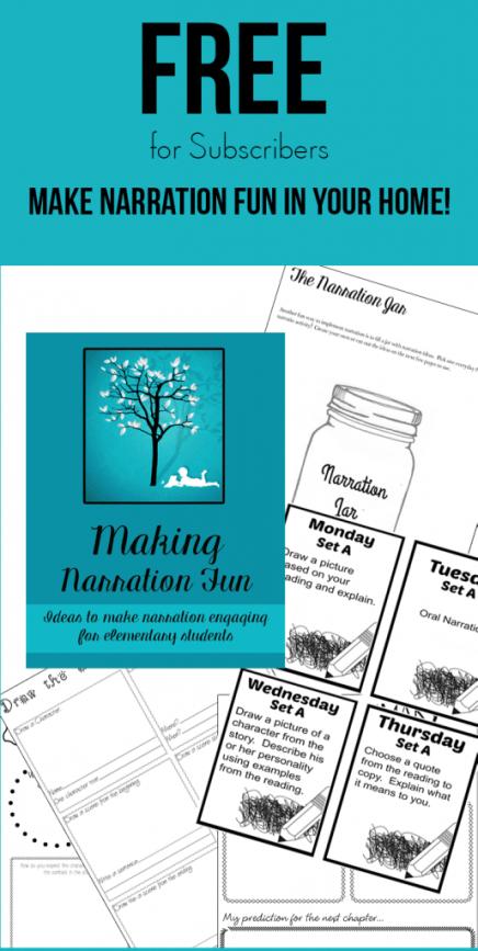 Free Making Narration Fun Printables