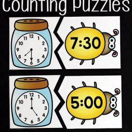 Free Insect Time Telling Puzzles
