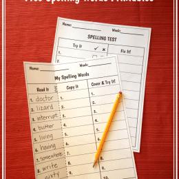 Free Spelling Words Printables