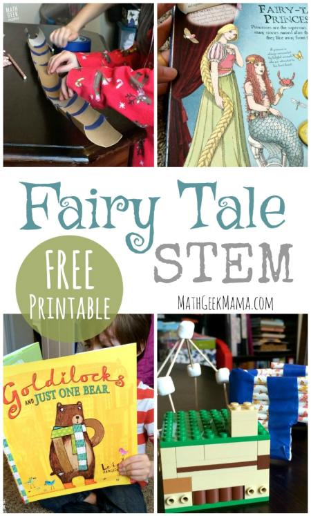 Free Fairy Tale STEM Challenges Printables