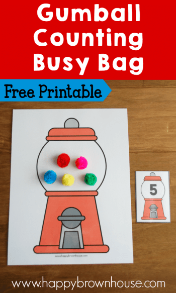 Gumball Counting Busy Bag