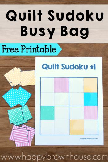 Quilt Sudoku Busy Bag