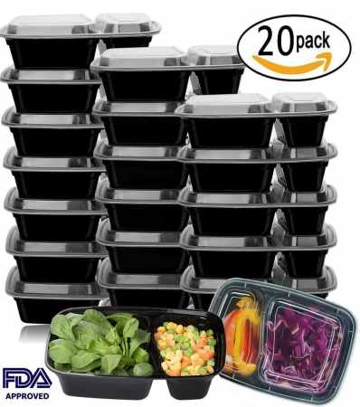 Meal Prep Containers 20 Pack Set Only $14.19! (63% Off!)