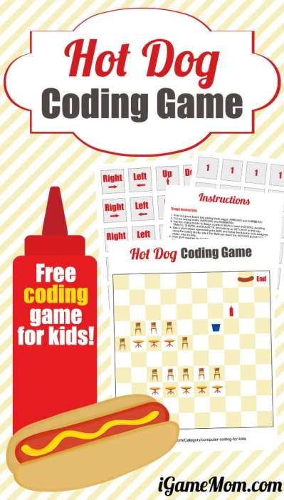 Free Hot Dog Coding Game