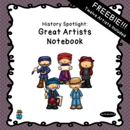 Free Great Artists Unit Study Notebook (78 Pages!)