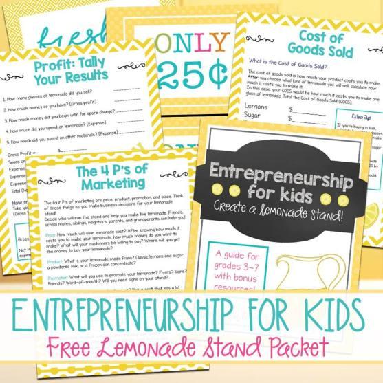FREE Lemonade Stand Printables Pack