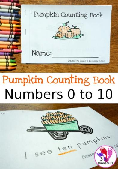 Free Pumpkin Number Counting Book