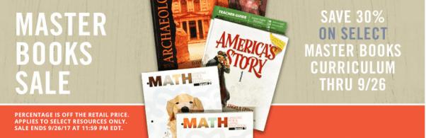 30% Off Master Books Curriculum