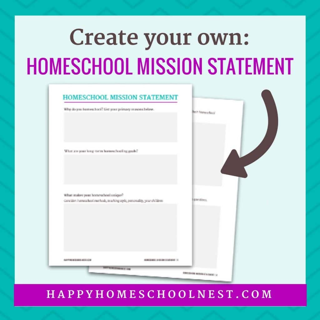 Free Homeschool Mission Statement Printable