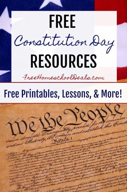 FREE CONSTITUTION DAY HOMESCHOOL RESOURCES - Printables, Lessons, & More!