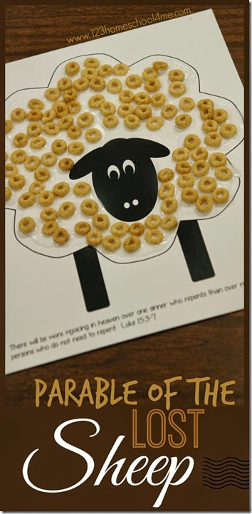 Free Parable of the Lost Sheep Printable Craft
