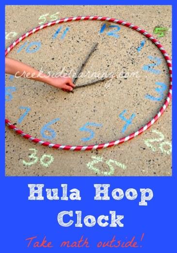 Hula Hoop Clock Activity