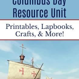 Free Columbus Day Unit Study Resources