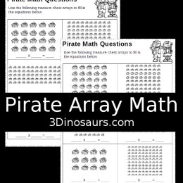 Free Pirate Multiplication Worksheets