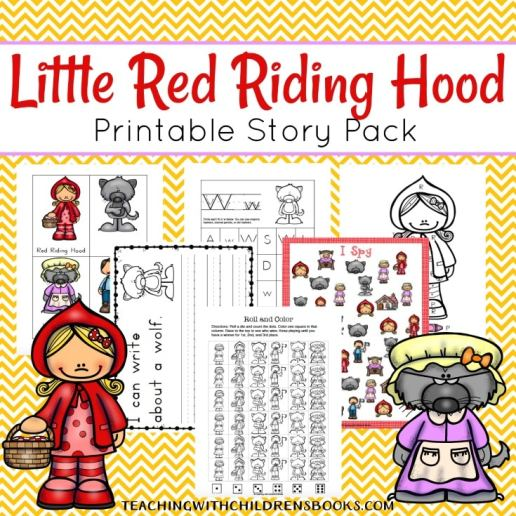 Free Little Red Riding Hood Learning Pack