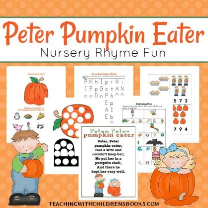 Free Peter Peter Pumpkin Eater Preschool Pack