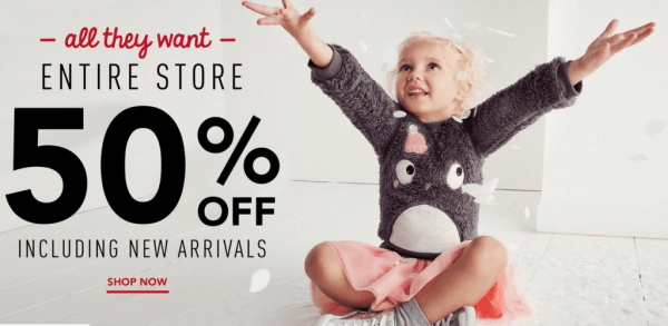 50% Entire Purchase at Gymboree