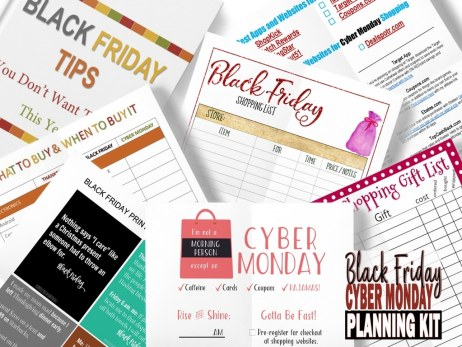 Free Black Friday/Cyber Monday Planning Kit