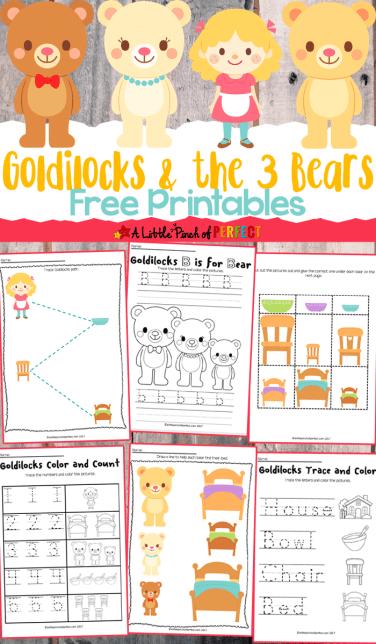 Free Goldilocks & The Three Bears Printables