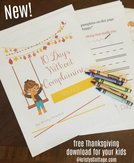 Free 10 Days Without Complaining Challenge for Kids