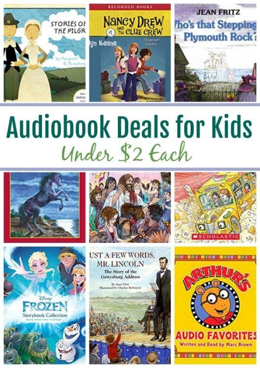 13 Audiobook for Kids Under $2: Stories of the Pilgrims, Nancy Drew, Magic School Bus & More!