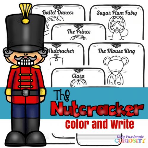 Free Nutcracker Color & Write Printables