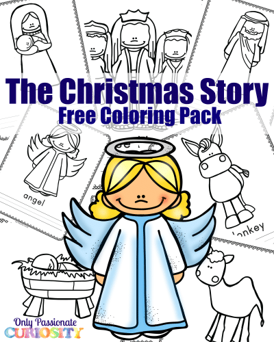 Free Christmas Story Coloring Pack