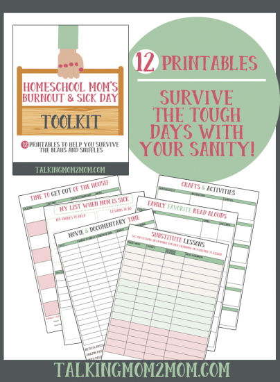 Free Homeschool Mom Burnout & Sick Day Kit