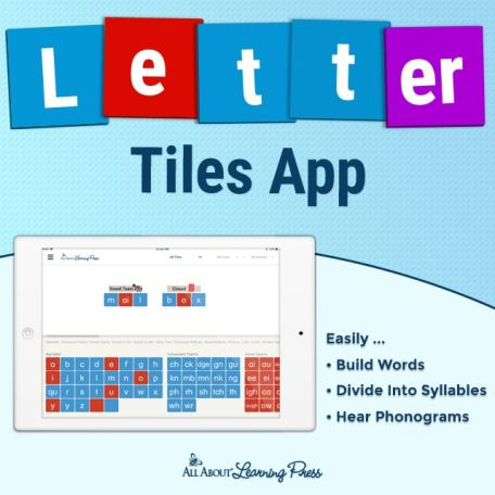 25% Off Letter Tiles App from All About Learning!