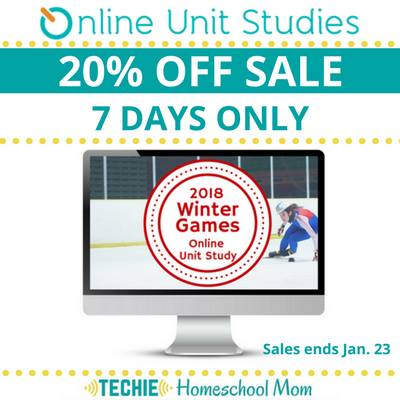 20% Off 2018 Winter Games Online Unit Study