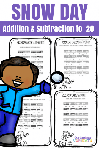 Free Snow Day Addition & Subtraction Pack