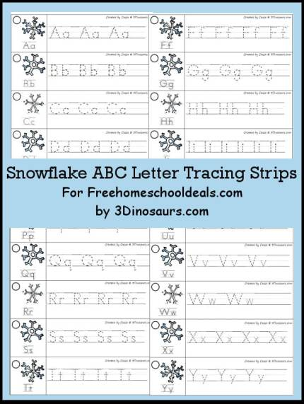 Free snowflake abc letter tracing strips instant download free free snowflake abc letter tracing strips instant download altavistaventures Choice Image