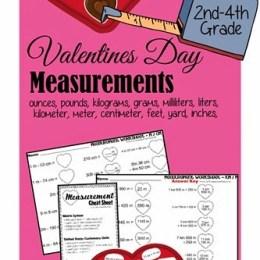 Free Valentine's Day Measurement Worksheets