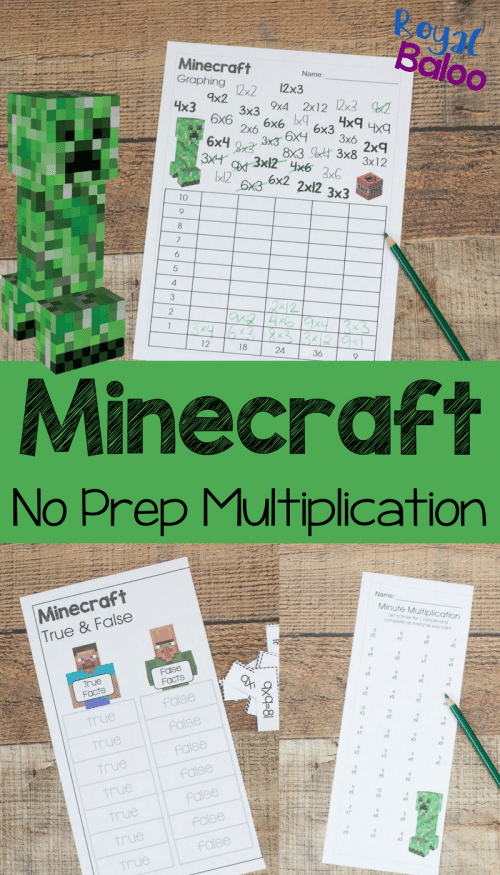 Free Minecraft Multiplication Worksheets   Free Homeschool Deals      Free Minecraft Multiplication Worksheets