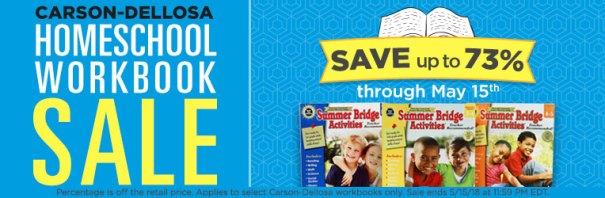 Carson-Dellosa Workbook Sale - Up to 73% Off!
