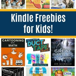 17 Free Kindle Books for Kids: Cartooning with Math, Duct Tape Crafts, Cooking Games, & More!