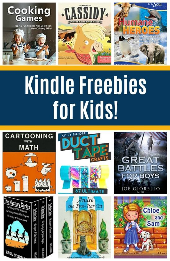 17 Free Kindle Books for Kids: Cartooning with Math, Duct Tape Crafts, & More!