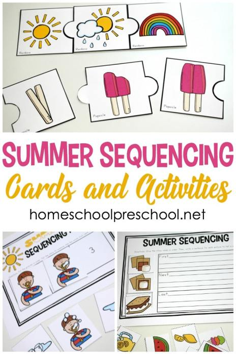 Free Summer Sequencing Printables
