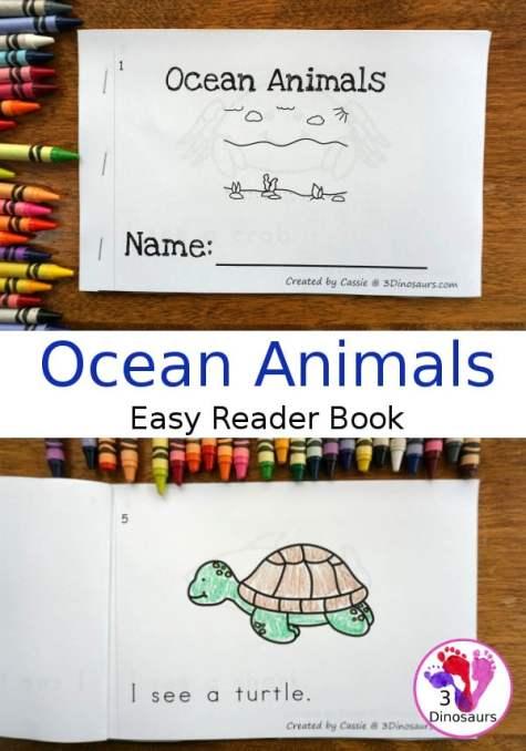 Free Ocean Animals Easy Reader Book