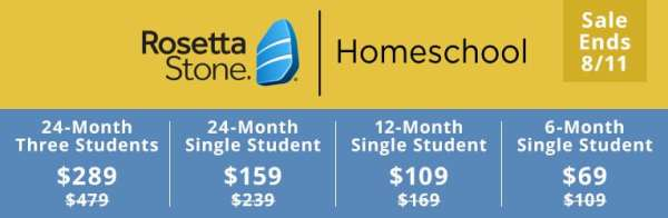 Rosetta Stone Homeschool Subscription - Up to 40% Off!