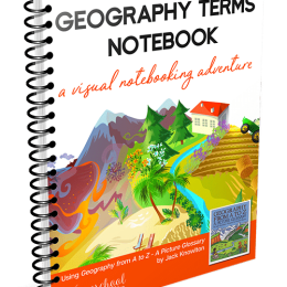 30% Off Geography Terms Notebook
