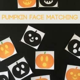 Free Pumpkin Faces Matching Printables
