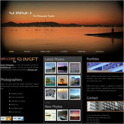 Free html website templates for Free photography website templates