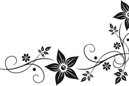 Floral border clipart black and white path decorations pictures vector graphics flower border black white clip art at clker com vector clip art flower border black white clip art black and white flower border clipart mightylinksfo