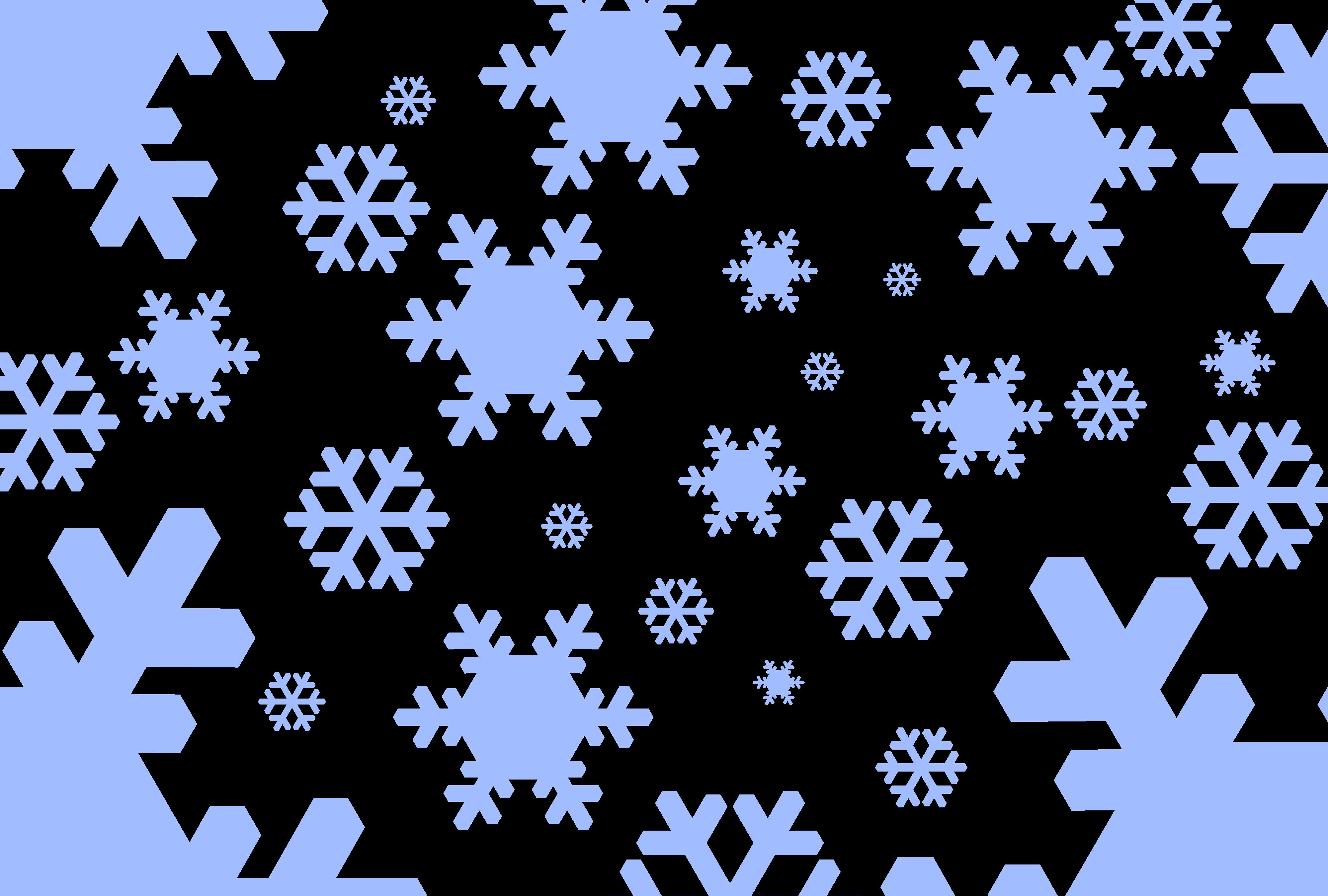Free Stock Photo 1535 Graphic Snowflakes Black