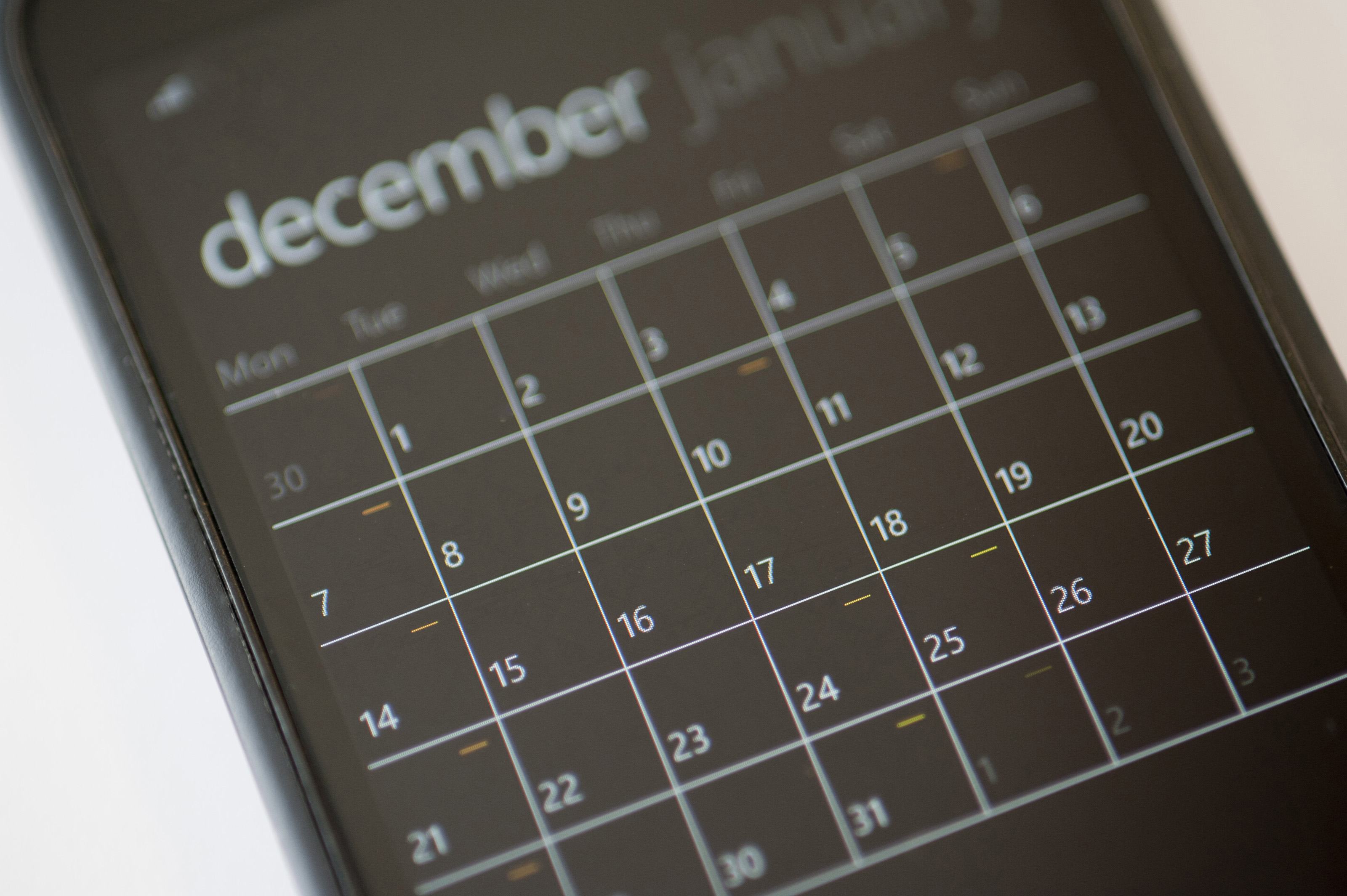 Free Stock Photo 10826 Calendar Application On A Modern