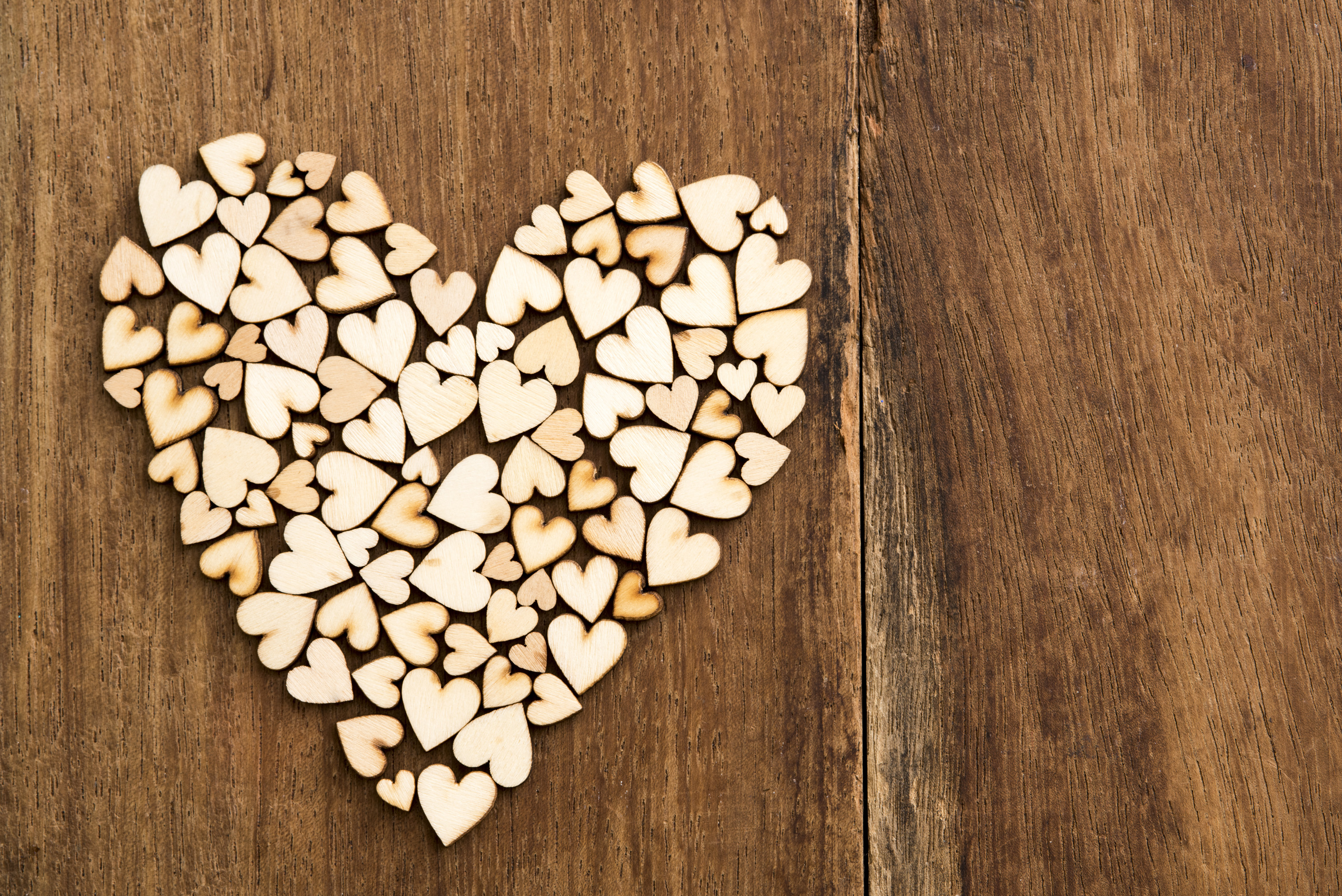 Free Stock Photo 13513 Small Wooden Hearts Freeimageslive