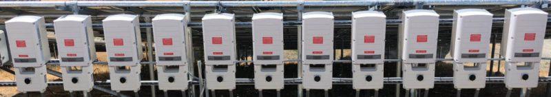 An array of solar inviters