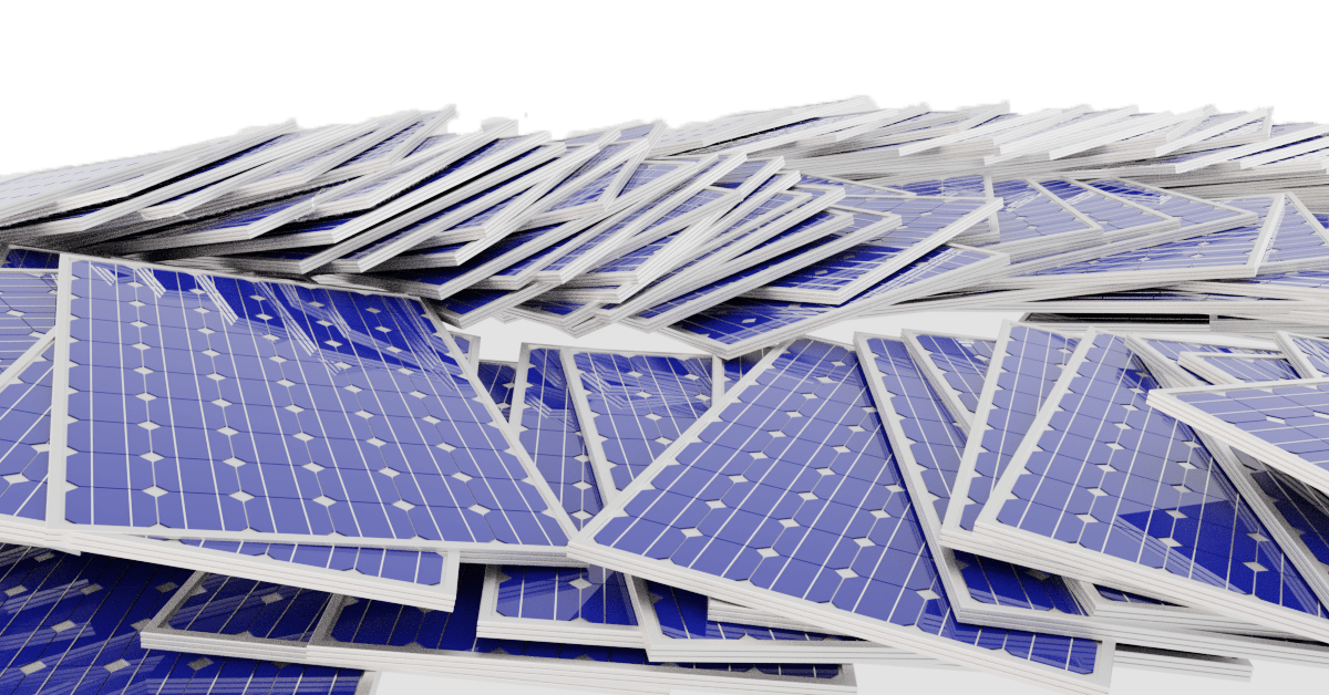 a pile of solar panels